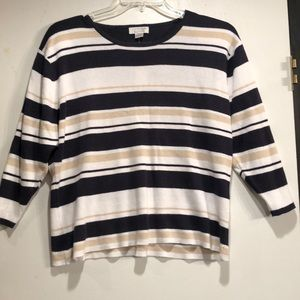 Christopher & Banks Cotton Sweater. Size XL